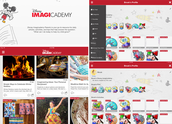 Disney Imagicademy Parents app