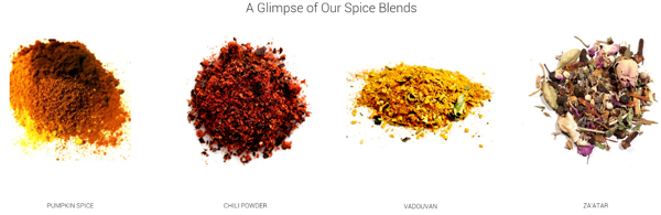 raw spice bar spice samples