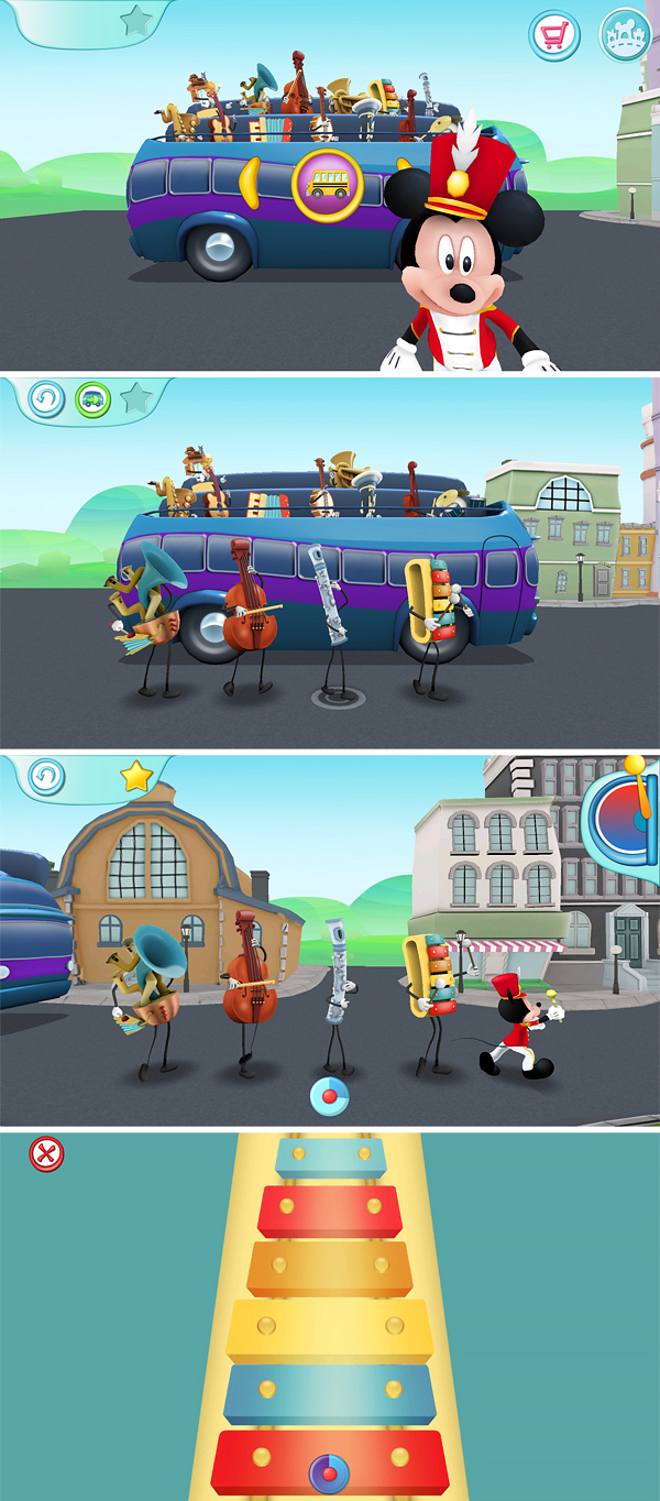 Mickey's Magical Arts World Music app ipad