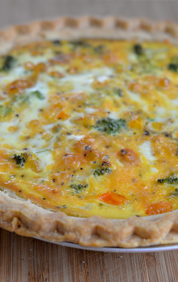 Silk Low Fat Vegetable Quiche Recipe Cooked
