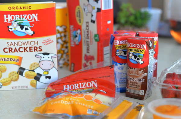 Horizon Park Snack Ideas Sandwich Cookies Cheese Milk