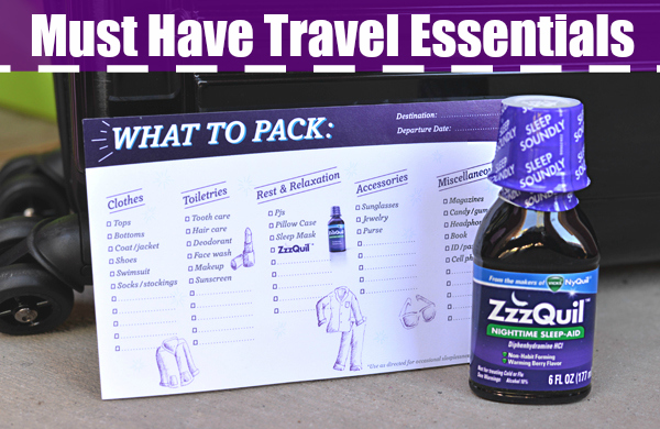 ZzzQuil Travel Checklist