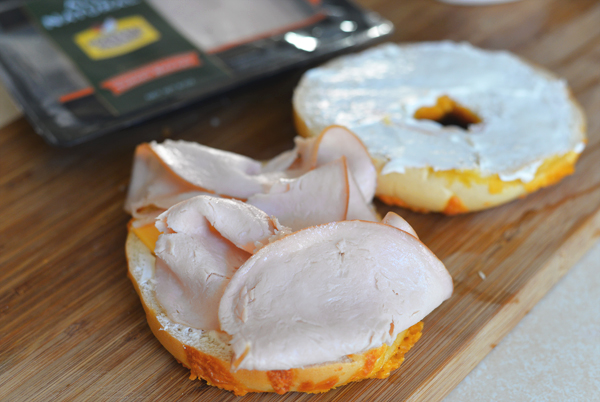 Foster Farms All Natural Turkey Breast Bagel Cream Cheese Sandwich