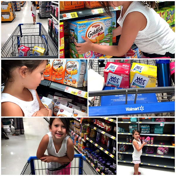 walmart back to school shopping