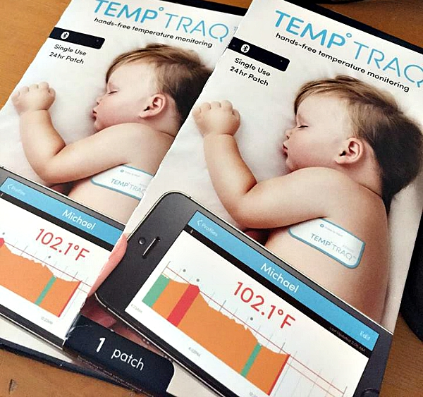 TempTraq is the 1st wearable Bluetooth® thermometer