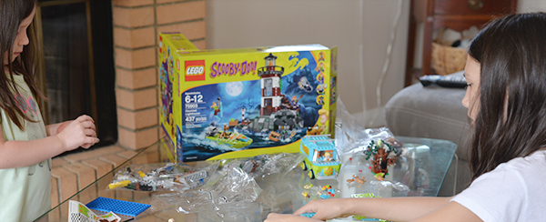 LEGO Scooby Doo Building Sets Kids playing Legos