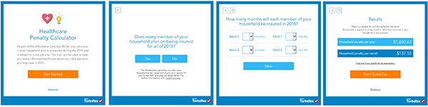 turbotax penalty checker results