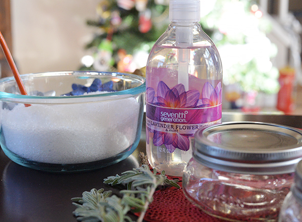 Seventh Generation Homemade Lavender Mint Salt Scrub Ingredients