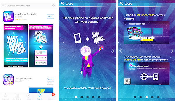 Ubisoft Just Dance 2016 Wii U Mobile App Setup