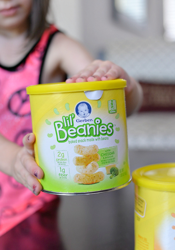 gerber lil beanies baked snack with beans toddler