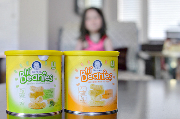 gerber lil beanies snacks made of beans