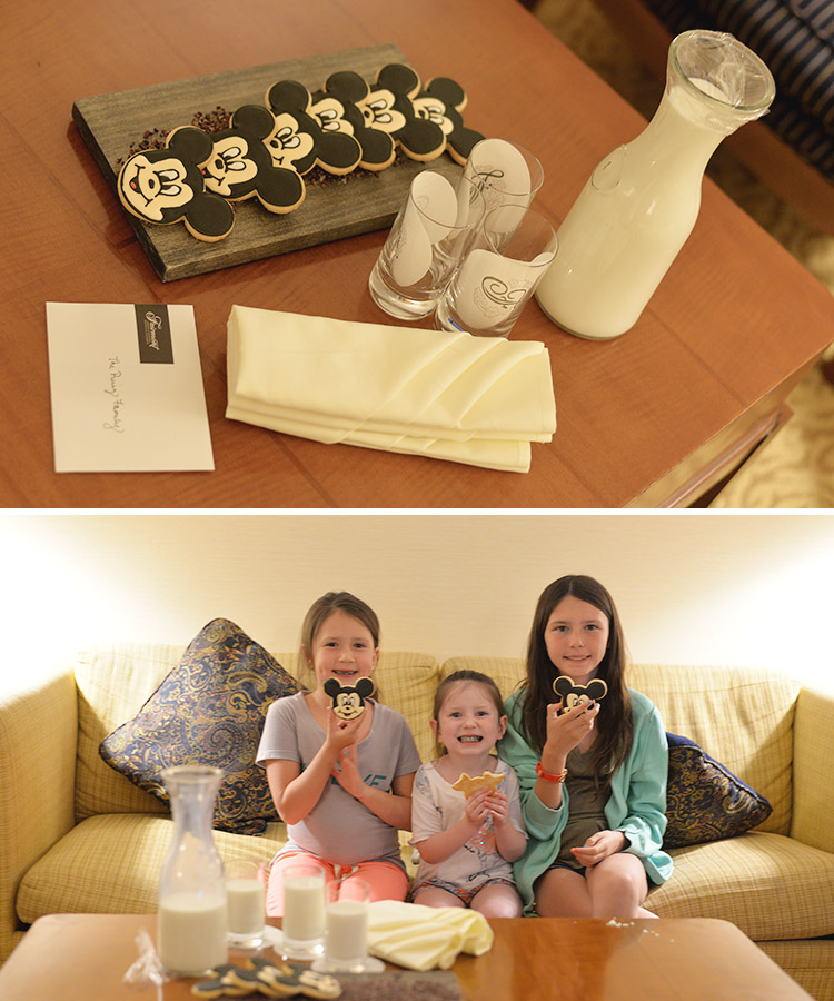 Fairmont Hotel Newport Beach California disney inspired milk and cookies for kids
