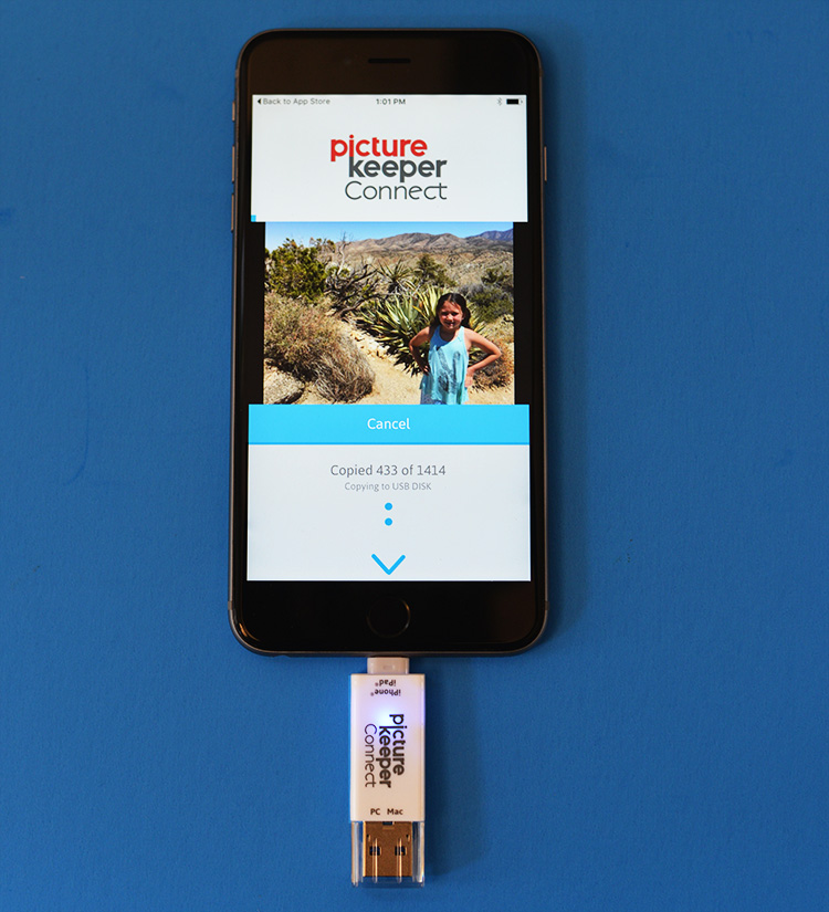 picture keeper iphone backup device