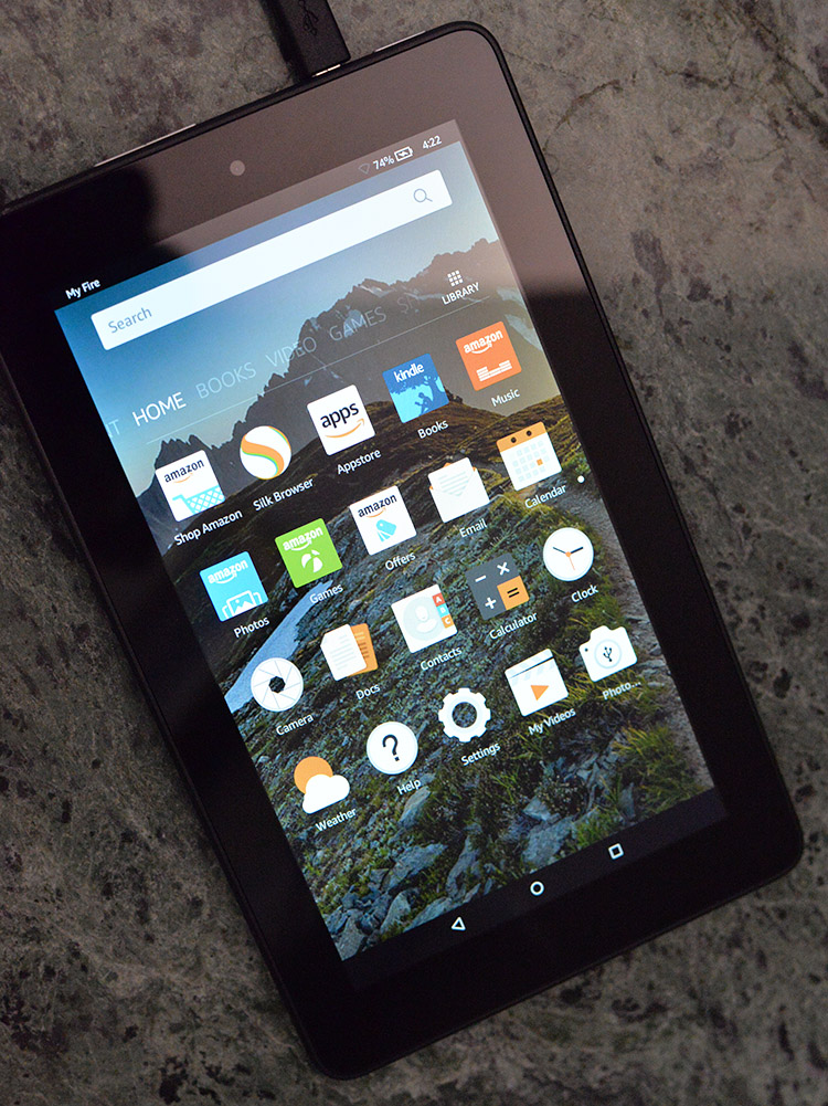 Amazon Fire Tablet home screen
