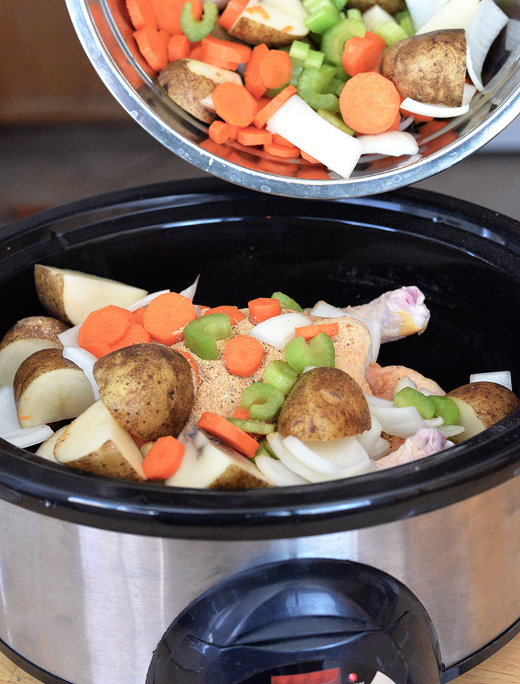 Crockpot chicken potato celery carrot