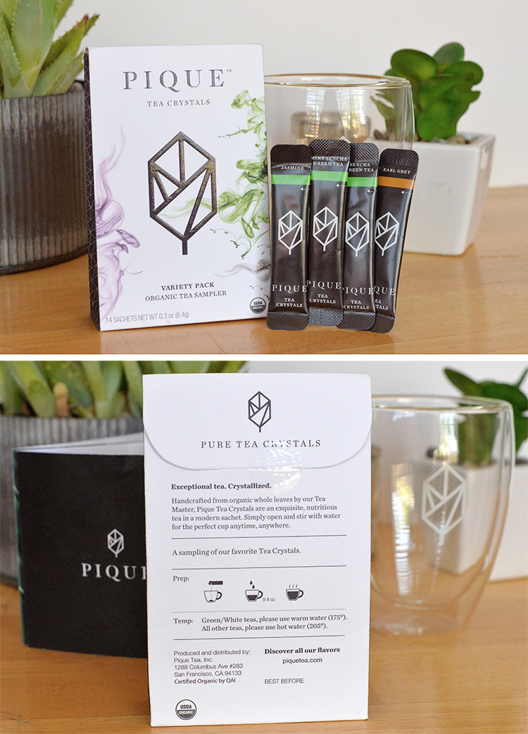 PIQUE tea crystals organic tea sample