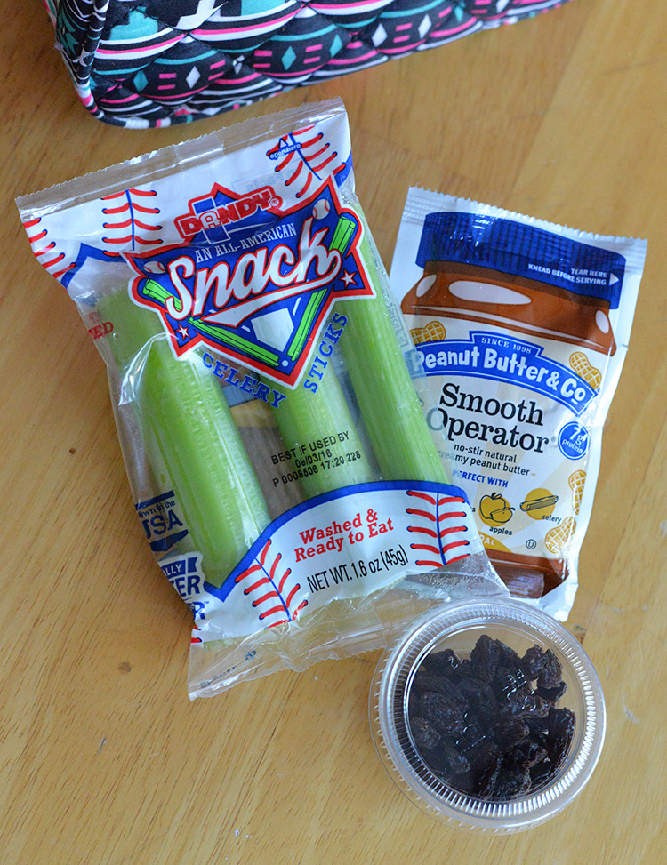 Dandy Celery Snack Packs Ant On Log snack kit