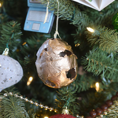 Easy & Simple How To Make (Papier) Paper Mache Christmas Tree Ornaments