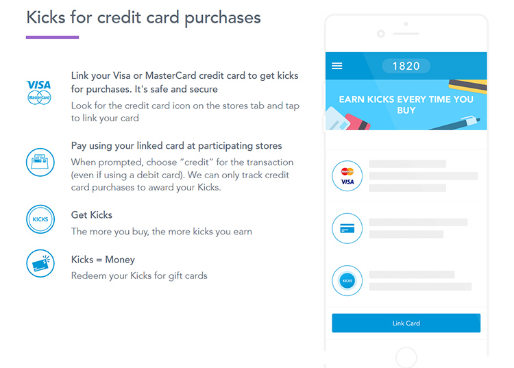 shopkick app credit card points kicks