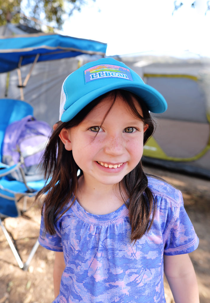 little girl camping cute hat
