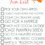 5 Fall Outdoor Activities For Kids – Fall Fun List Printable