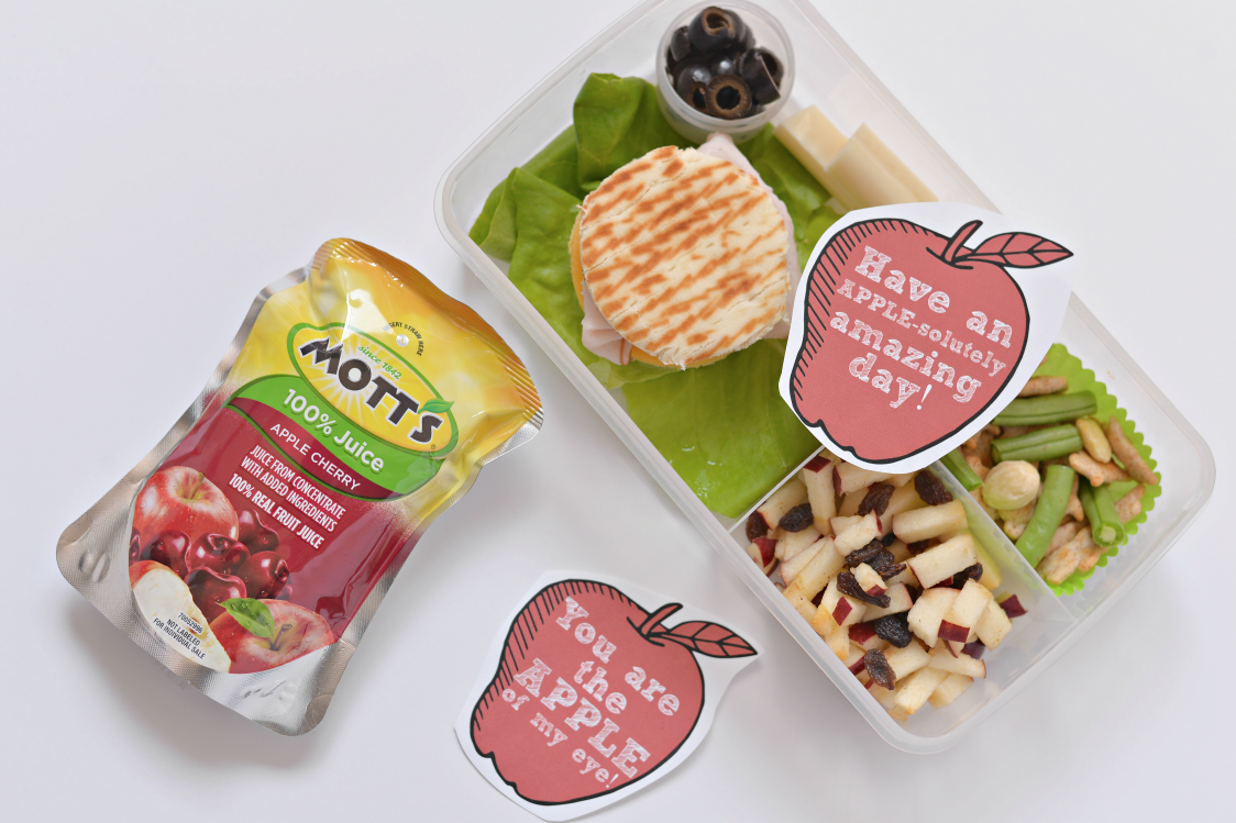 apple lunchbox notes free printable