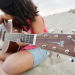 Fender Guitar on beach