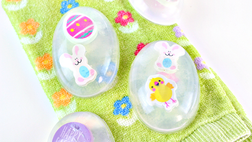 Homemade Melt & Pour Easter Soaps For Kids