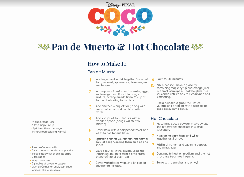 Pan de Muerto recipe for disney coco