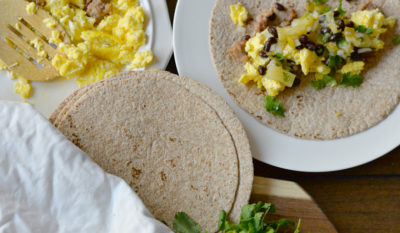 pineapple morning breakfast taco