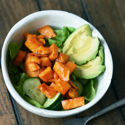 Roasted Maple Glazed Sweet Potato Salad Recipe