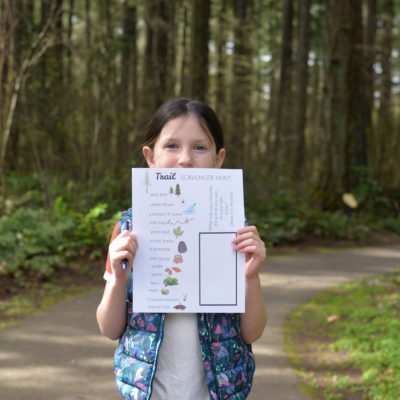 FREE TRAIL SCAVENGER HUNT FOR KIDS